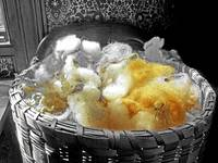 Raw Wool in an Antique Basket BW special (3)