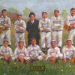 """Vintage 1909 Baseball Painting"" by myartlane"