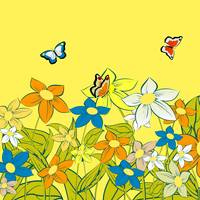 Summer background with stylized butterflies