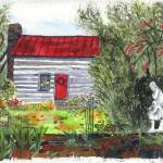 """Log Cabin"" by MaryDonaldsonPowell"