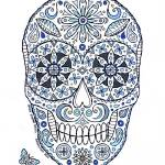 """blue sugar skull"" by staceycreek"