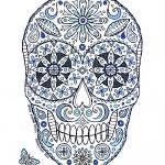 """blue sugar skull"" by staceycreek"