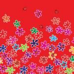 """Retro Flowers and Ladybugs"" by crazyabouthercats"