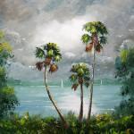"""Tropical Misty Lake"" by mazz"