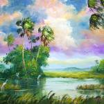 """Everglades Wind Painting"" by mazz"