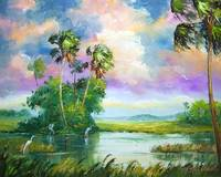 Everglades Wind Painting