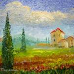 """""""Tuscany Countryside with Poppies"""" by mazz"""