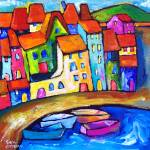 """""""CADAQUES , SPAIN"""" by saracatenacolorfulart"""