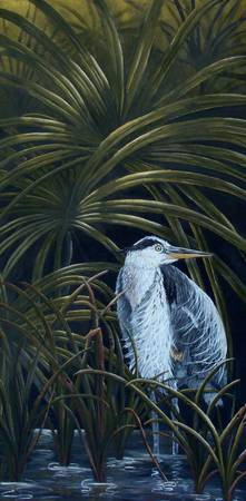 Heron in the palms