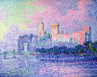 The Chateau des Papes, Avignon by Paul Signac