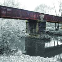 The Old Railroad Bridge Art Prints & Posters by Kenneth W. Cain