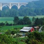 """Bridge and Barn"" by maryfrances2374"