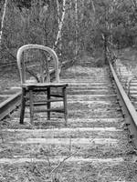 Chair on the tracks 1
