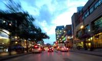 Driving West on Portage Avenue Winnipeg
