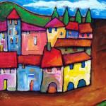 """TOLEDO , SPAIN"" by saracatenacolorfulart"