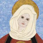 """""Mary"" fabric mosaic - Virgin Mar"" by RemnantWorks"