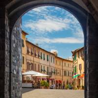 Montalcino Loggia Art Prints & Posters by Inge Johnsson