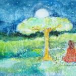 """""""Yogananda in Samadhi at Night"""" by ArtSamadhi"""