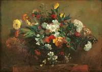 Flowers by Ferdinand Victor Eugene Delacroix
