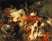 The Death of Sardanapalus by Delacroix
