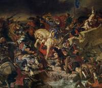 The Battle of Taillebourg by Delacroix