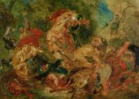 Study for The Lion Hunt by Delacroix