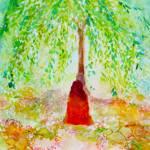 """Paramhansa Yogananda Meditating Under a Tree"" by ArtSamadhi"