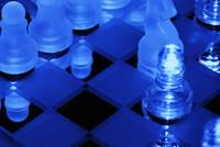 chess game with blues