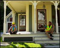 Construction Workers in Ludlow, Vermont