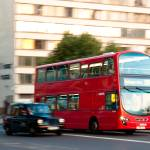 """London Bus going over London Bridge"" by Heners"