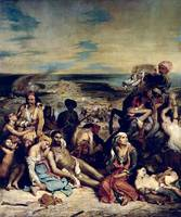 Scenes from the Massacre of Chios by Delacroix