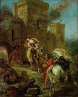 Rebecca Kidnapped by the Templar by Delacroix