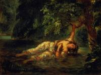 The Death of Ophelia by Ferdinand Delacroix