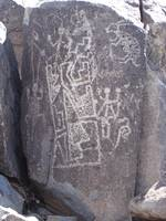 Rock with petroglyphs