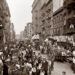 """Mulberry Street c1900"" by worldwidearchive"