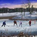 """Pond Hockey"" by skyerenaud"