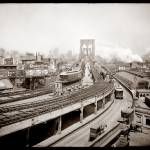 """Brooklyn Bridge and Terminal c1903"" by worldwidearchive"