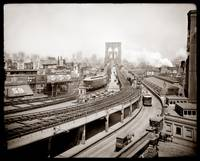 Brooklyn Bridge and Terminal c1903 by WorldWide Archive