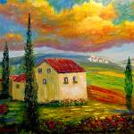 """Old Tuscany Farmhouse"" by mazz"