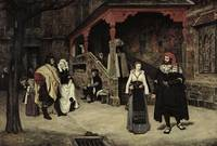 Meeting of Faust and Marguerite by Tissot