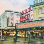 """Rainy Morning Pike Place Market"" by JonBradham"
