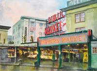 Rainy Morning Pike Place Market