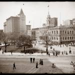 """City Hall and Park, New York City c1905"" by worldwidearchive"