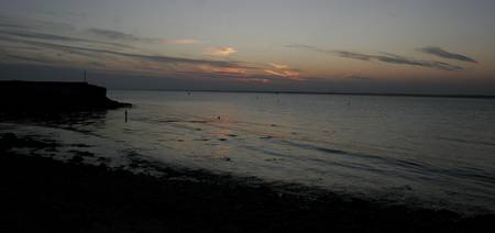 Isle of wight evening seascape.