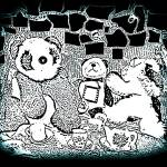 """Panda Bear Tea Party"" by aqualily6"