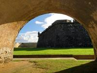 Walls of San Felipe Del Morro Viewed Through of an