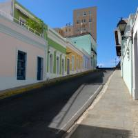 Old San Juan Street on a Hill Art Prints & Posters by George Oze