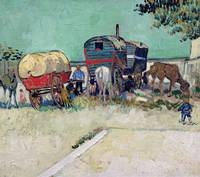 The Caravans, Gypsy Encampment by Vincent Van Gogh