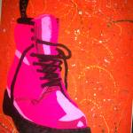 """Pop Art Pink Doc Marten"" by lonisart570"