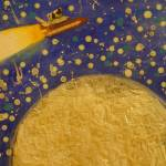 """""""Cow Shuttles over the Moon"""" by acreativemind"""